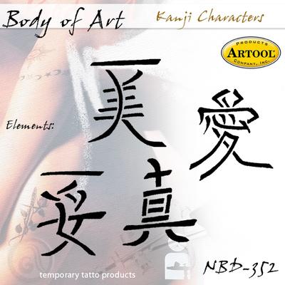 Airbrush šablon za telo Kanji