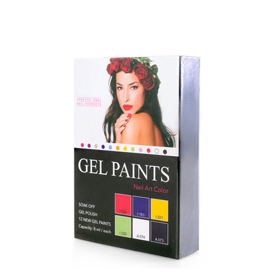 Gel Paints Kit For Nail Art GELP02 6pcs