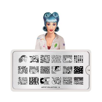 Stamping Nail Art Image Plate MOYOU Artist 14