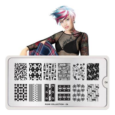 Stamping Nail Art Image Plate MOYOu Punk 06
