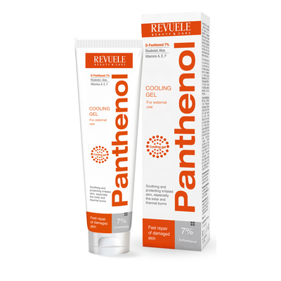 Cooling Gel For Solar and Thermal Burns REVUELE Panthenol 75ml