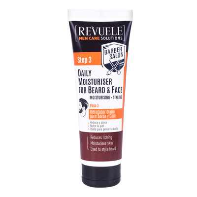 Daily Moisturiser for Beard and Face REVUELE Barber Salon 80ml