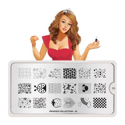 Stamping Nail Art Image Plate MOYOU Princess 10