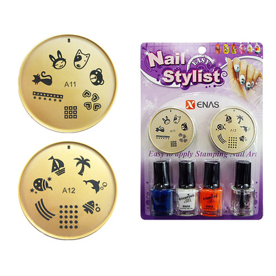 Set For Nail Art With Stencils And Nail Polishes TYPE1