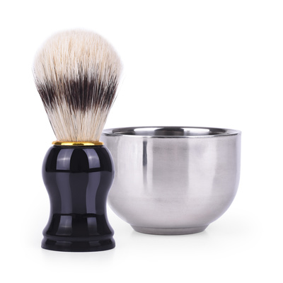 Shaving Brush and Container G-106