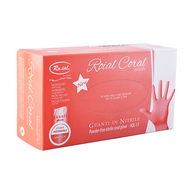 Nitrile Gloves ROIAL Coral M 100pcs