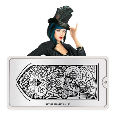 Stamping Nail Art Image Plate MOYOU Gothic 09