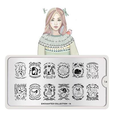 Stamping Nail Art Image Plate MOYOU Enchanted 14