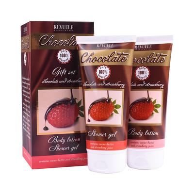 Poklon set za negu kože REVUELE Chocolate & Strawberry