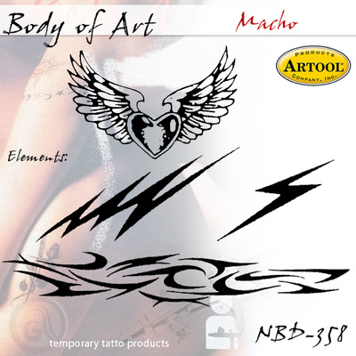 Airbrush šablon za telo Mačo