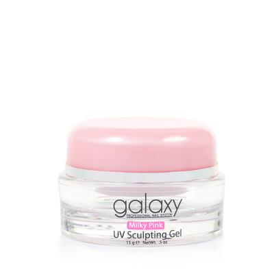 Gradivni gel za nadogradnju noktiju 3u1 GALAXY Milky pink 15g