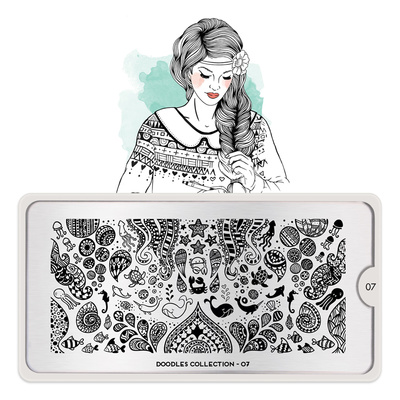 Stamping Nail Art Image Plate MOYOU Doodles 07