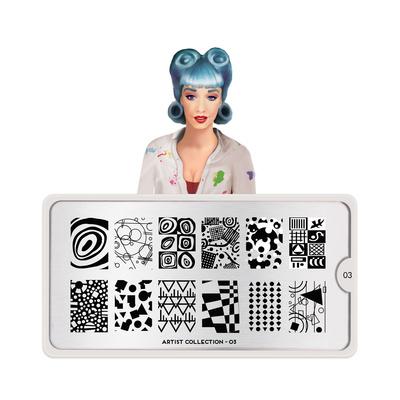Stamping Nail Art Image Plate MOYOU Artist 03
