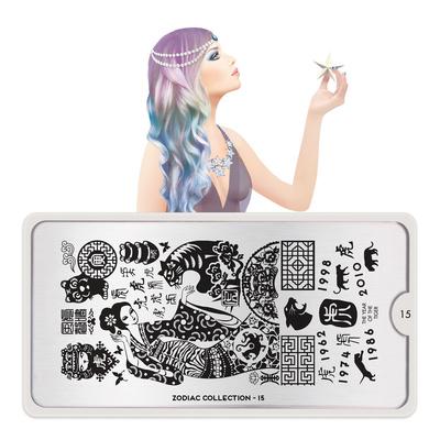 Stamping Nail Art Image Plate MOYOU Zodiac 15