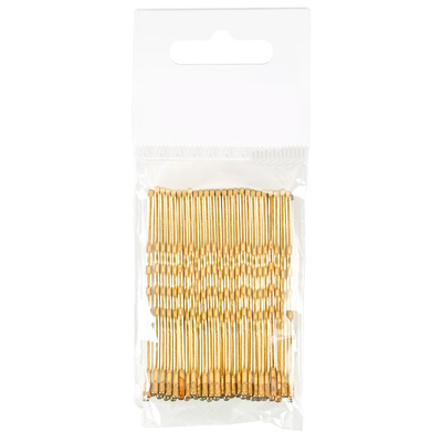 Ukosnice za kosu metalne COMAIR 7cm 25 kom zlatne