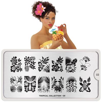 Stamping Nail Art Image Plate MOYOU Tropical 03
