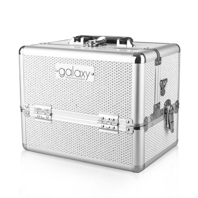 Makeup, Cosmetics and Tool Case GALAXY TC-1432WG White Glitter