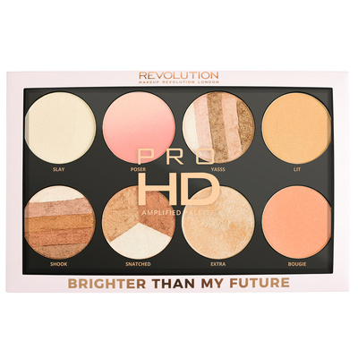 Paleta hajlajtera i iluminatora REVOLUTION MAKEUP Pro HD Amplified Brighter Than My Future