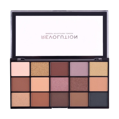 Eyeshadow & Pressed Pigment Palette REVOLUTION MAKEUP New Reloaded Velvet Rose 16.5g