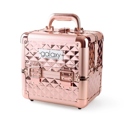Makeup, Cosmetics and Tool Case GALAXY Rose Gold 1271