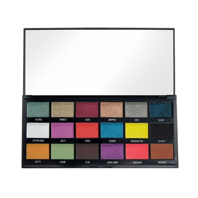 Eyeshadow and Pigments Palette I HEART REVOLUTION Chocolate Slime Halloween 18g