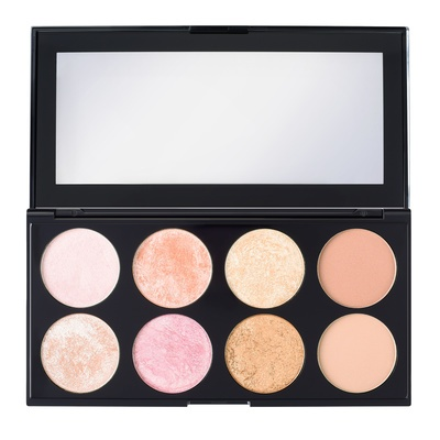 Ultra Palette Blush, Bronze & Highlight REVOLUTION MAKEUP Ultra Blush Sugar 2 Rose Gold 15g