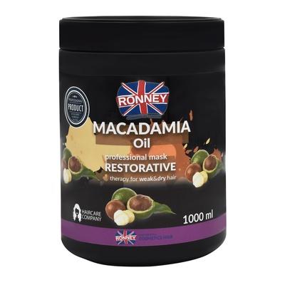 Maska za obnavljanje slabe i suve kose RONNEY Macadamia Oil 1000ml
