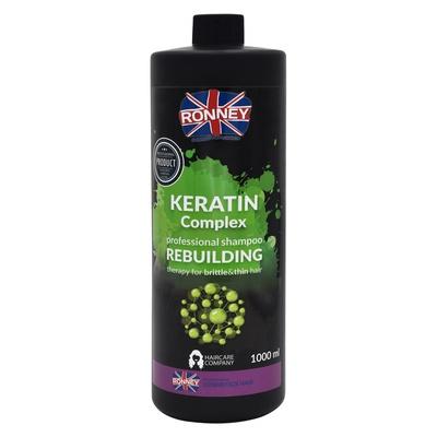 Šampon za rekonstrukciju tanke i lomljive kose RONNEY Keratin Complex 1000ml