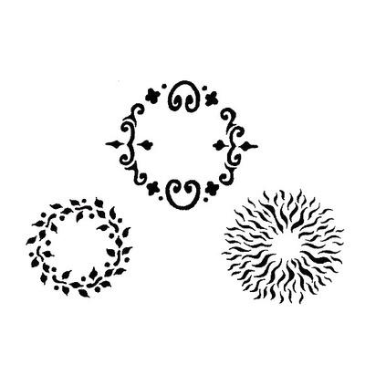 Airbrush šablon za telo BODY ART Krugovi