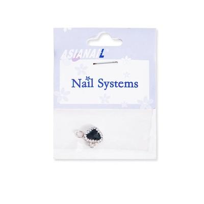 Privezak za nokte crno srce ASNGS05