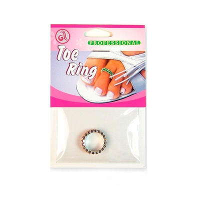 Prsten za nožni prst dvostruki DR04 kristal