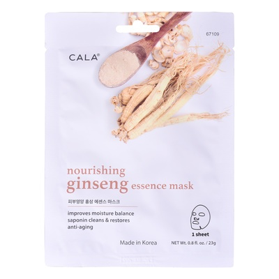 Korean Sheet Facial Nourishing Mask CALA Ginseng Essence 67109 23g