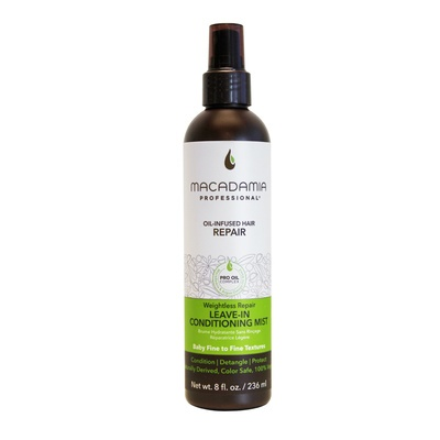 Leave-In Conditioning Mist Sulfate Free MACADAMIA Oil-Infused Hair Weightless Repair 236ml