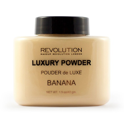 Završni puder u prahu MAKEUP REVOLUTION Luxury Powder Banana 42g