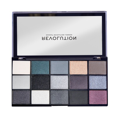 Paleta senki za oči REVOLUTION MAKEUP Reloaded Blackout 16.5g