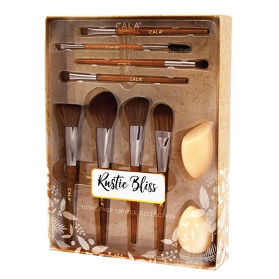 Makeup Brush & Spogne Set CALA Rustic Bliss 76814 10pcs