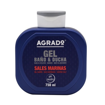 Bath and Shower Gel AGRADO Marine Salt 750ml