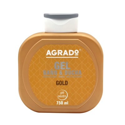 Bath and Shower Gel AGRADO Gold 750ml