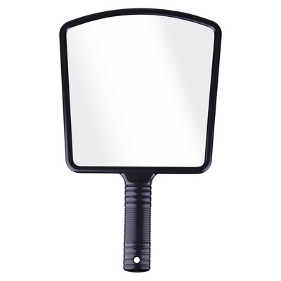 Cabinet Hand Mirror Square with Handle N24B Black
