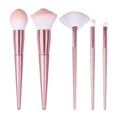 Precious Stone Brush Set REVOLUTION MAKEUP Rose Quartz 5pcs