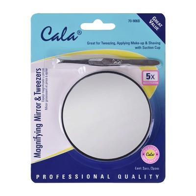 Mini Magnifying Mirror & Tweezers CALA 70-906B