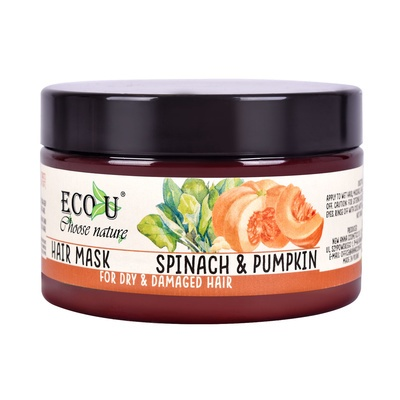 Hair Mask for Dry and Damaged Hair ECO U Spinach & Pumpkin 250ml