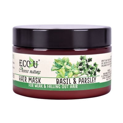 Hair Mask for Weak and Falling Out Hair ECO U Basil & Parsley 250ml