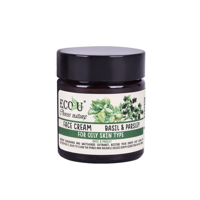 Face Cream for Oil Skin Type ECO U Basil & Parsley 30ml