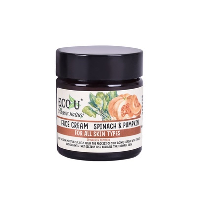 Face Cream for All Skin Types ECO U Spinach & Pumpkin 30ml