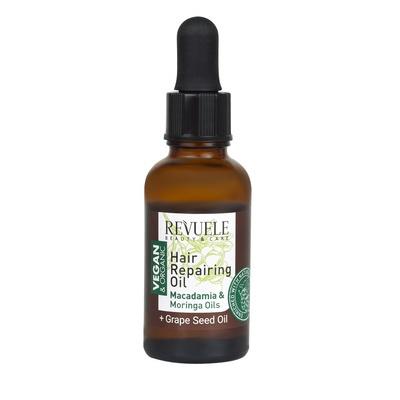 Hranljivo ulje za suvu i oštećenu kosu sa uljima makadamije i moringe REVUELE Vegan&Organic 30ml