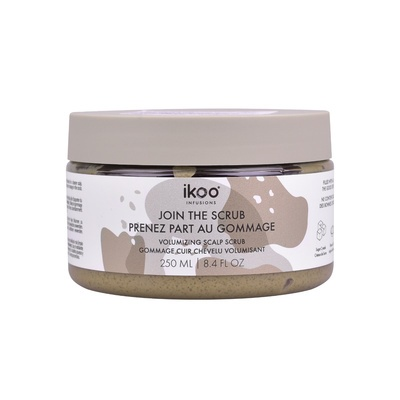 Volumizing and Cleansing Scalp Scrub IKOO Rhassoul Clay 250ml