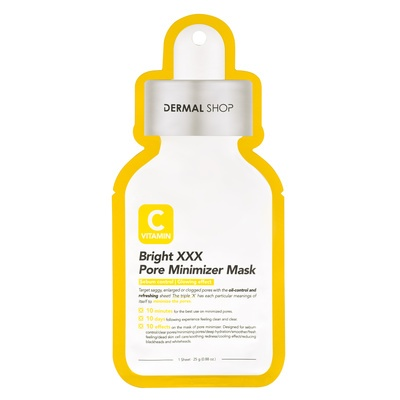 Korean Sheet Facial Brightening Mask with Vitamin C DERMAL Bright XXX 25g
