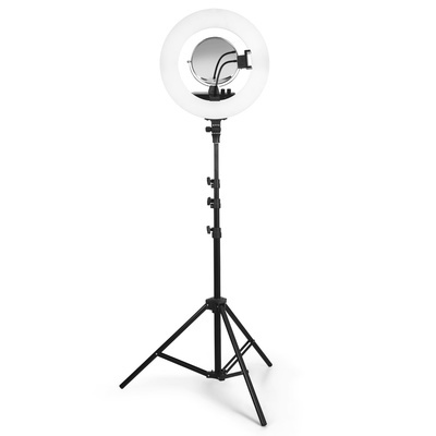 Ring Light Photo LED Lighting with Adjustable Tripod and Remote Control JB-3008-Black
