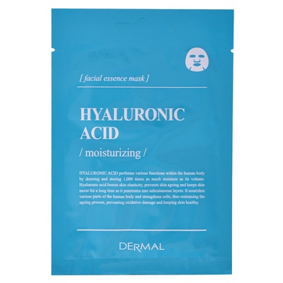 Korean Sheet Facial Essence Mask DERMAL Hyaluronic Acid Encyclopedia 25g